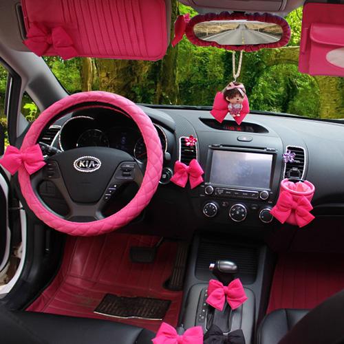 汽车内饰用品安全带护肩套档位套排挡手刹套后视镜套扶手箱垫套装