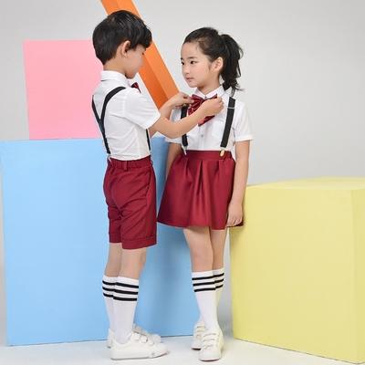 六一男童女童朗诵表演背带裤儿童礼服小学生幼儿园大合唱演出服装