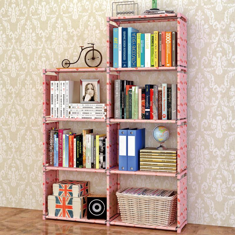 索爾諾簡易書架加固書櫃現代簡約桌上書架置物架 自由組合層架