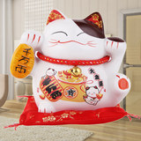 Lucky Cat ceramic ornaments fortune cat piggy piggy bank home small office opened housewarming gift