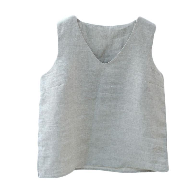 分享价便宜到哭 法国麻质感强烈纯亚麻背心舒适上衣简约实用凉快