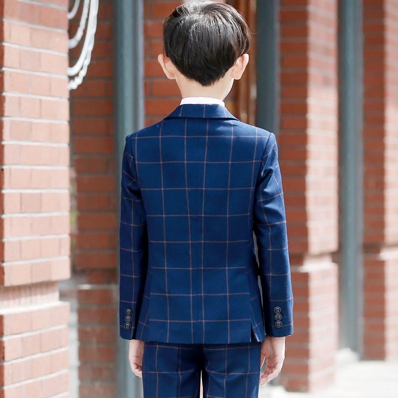儿童西装套装春秋花童礼服男韩版钢琴礼服男童小西服宝宝英伦帅气