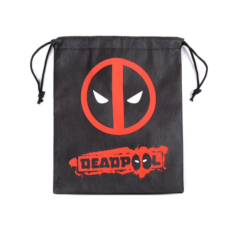 [淘寶網] Deadpool死侍周邊 創意個性黑色死侍頭像標誌收納袋抽繩揹包 現貨
