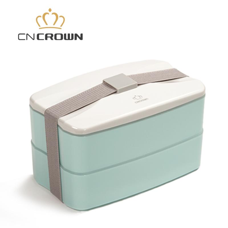 科羅恩便當盒 雙層時尚PP塑料分格飯盒 微波爐加熱保溫飯盒2層