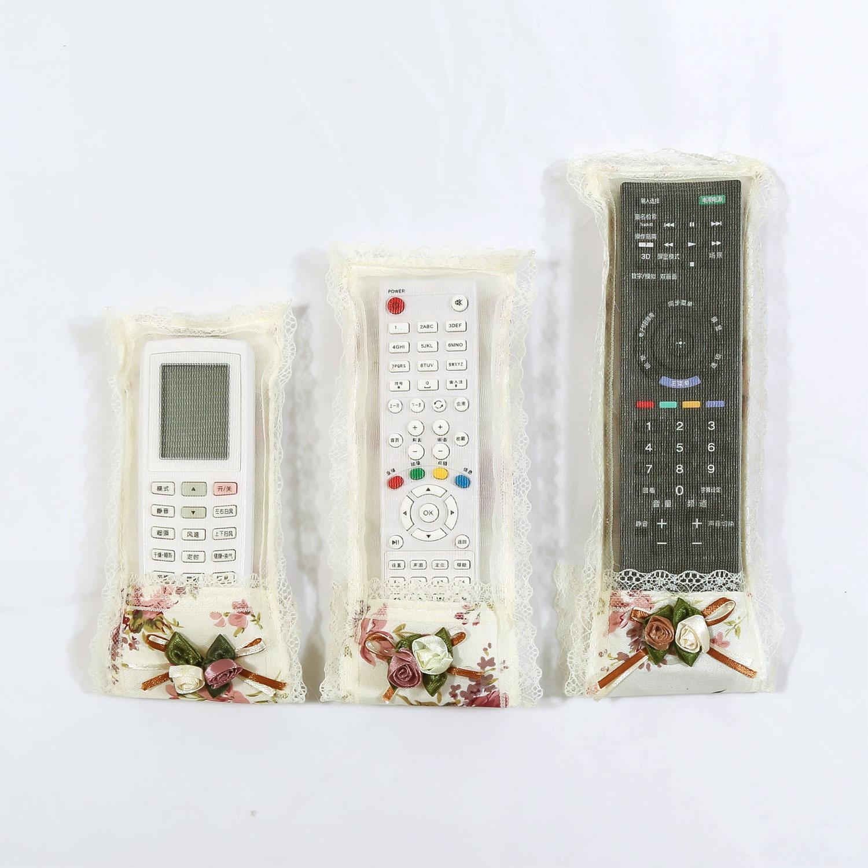 包郵三隻裝 遙控器罩空調電視遙控器套遙控袋保護套防塵罩布藝