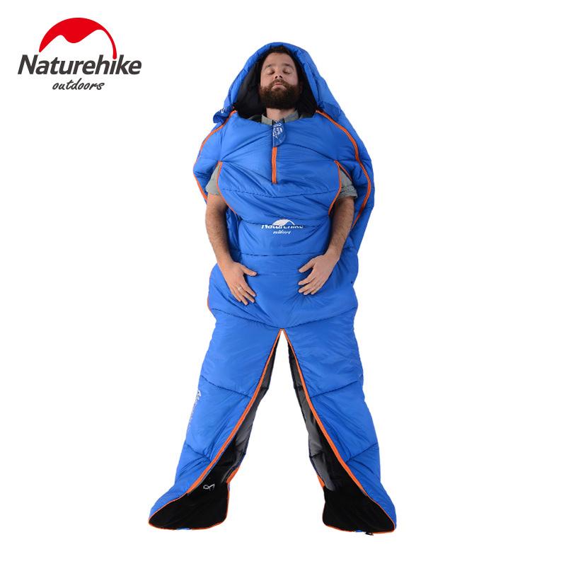 Naturehike挪客人形可伸手睡袋冬季加厚大人戶外旅行成人野外露營
