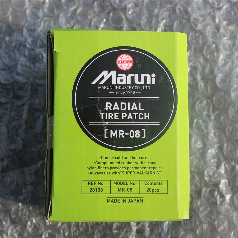 马罗尼正品汽车轮胎胎侧修补专用巴子 08 日本进口玛罗尼补胎胶片