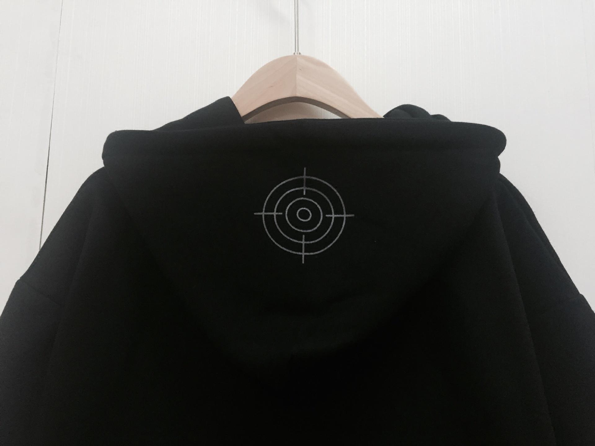 EXO吴亦凡同款卫衣时尚芭莎黑色假两件连帽宽松男女情侣外套衣服