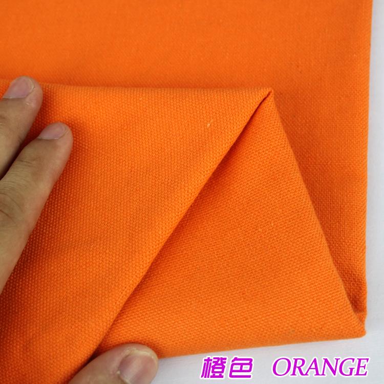 半米價 橙色純棉帆布 桌布窗簾 沙發布靠墊 帆布包 拍照背景布