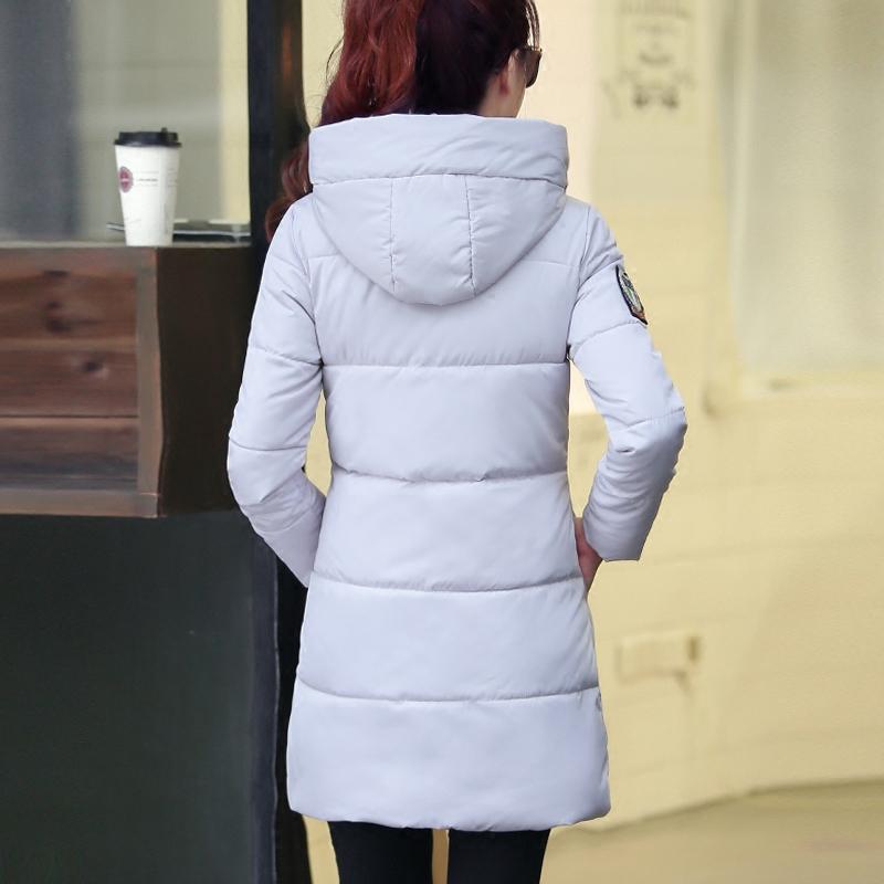 2019新款冬棉袄加厚棉衣外套羽绒棉服女中长款韩版修身连帽面包服
