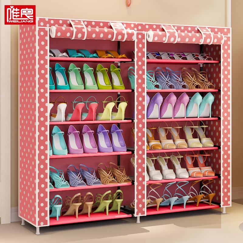 简易鞋架多层防尘收纳神器大容量门口牛津布柜学生宿舍经济型家用