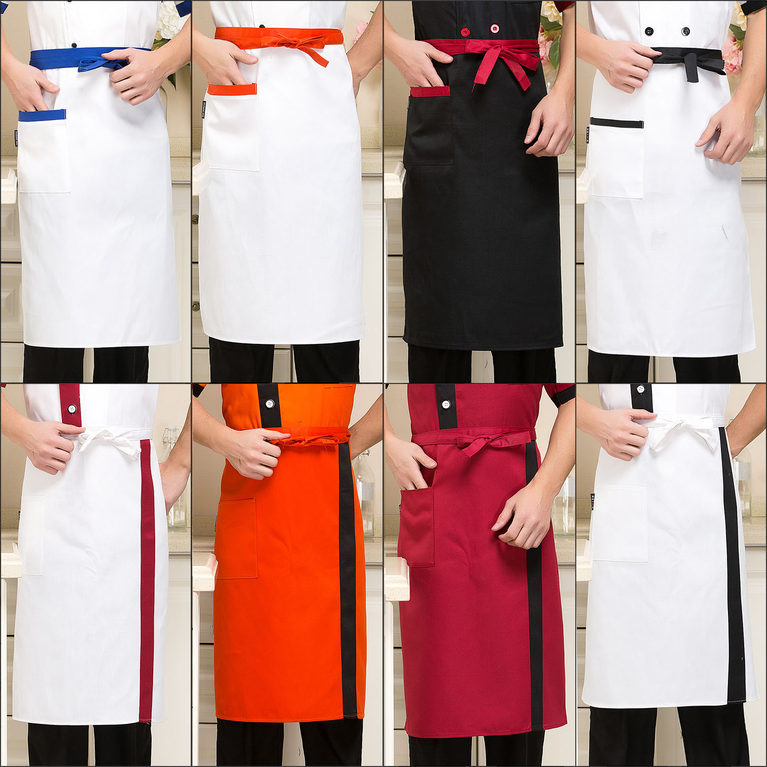 White aprons for sale - Get Quotations The Hotel Restaurant Waiter Aprons Work Aprons Chef Aprons Catering New Bust Apron Aprons Aprons For