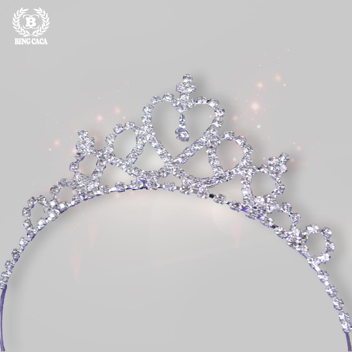 皇冠髮箍女童飾品女孩髮飾兒童水鑽兒童王冠生日公主頭飾寶寶頭箍