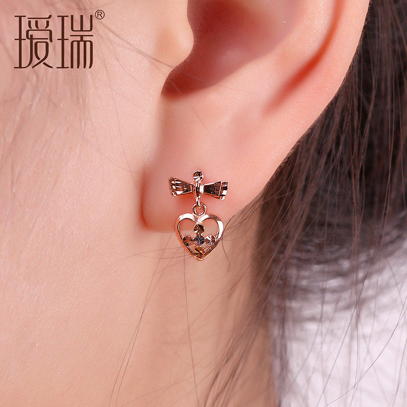 Ai Rui K Gold Earrings Female Models Platinum Rose