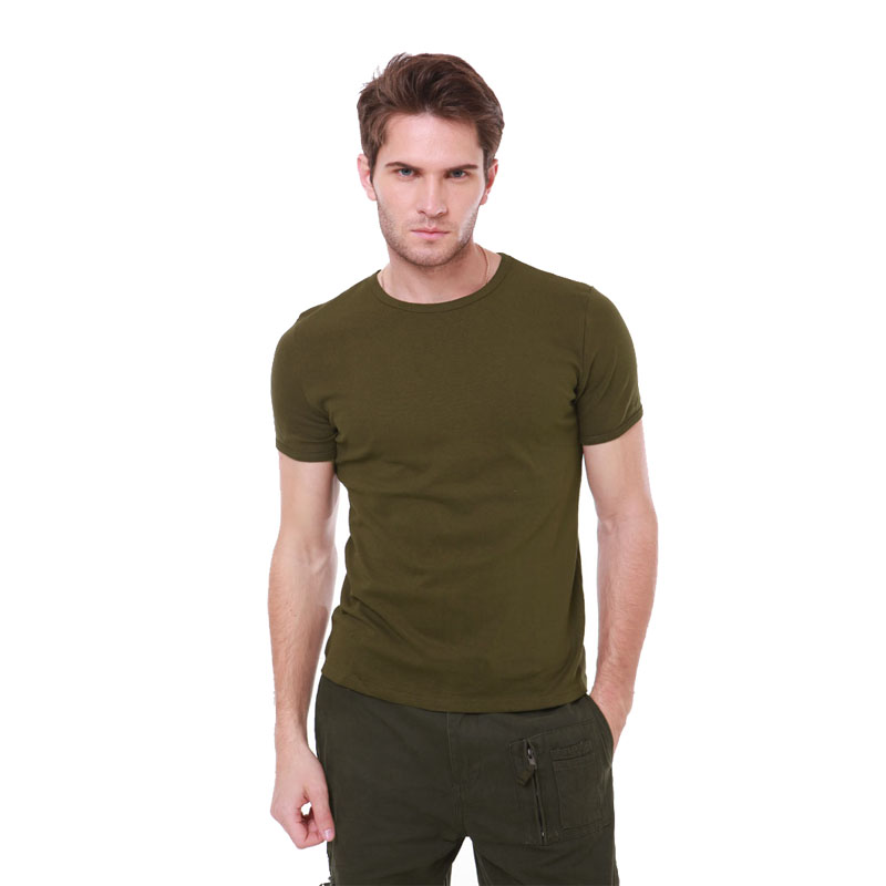 76634b4ac499 Buy Allies outdoor military fans t-shirt men short sleeve solid summer  training uniform section round neck slim stretch tight t-shirt army green  in Cheap ...
