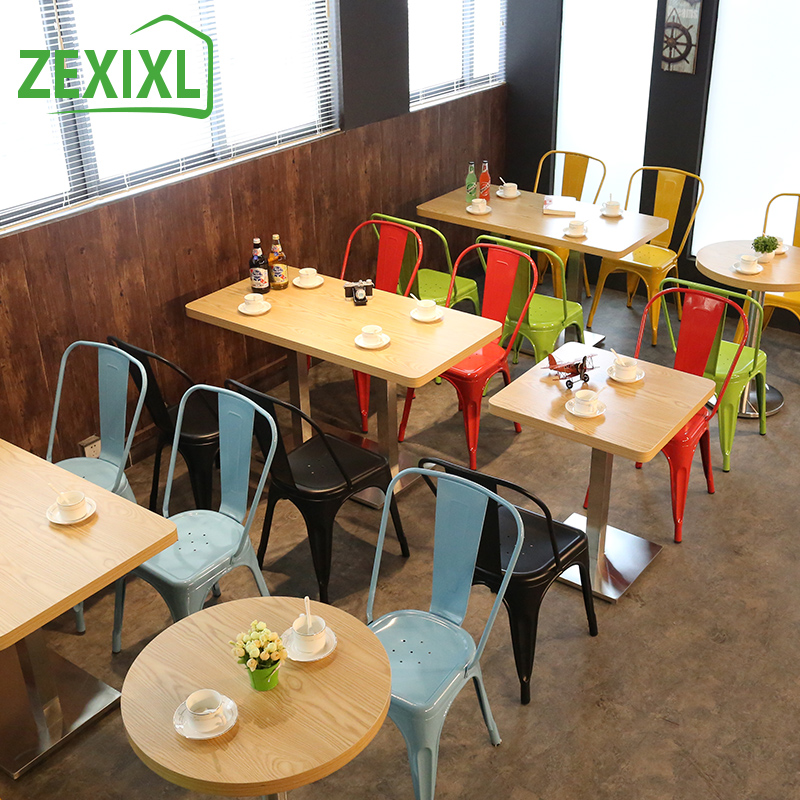 Buy American Vintage Wrought Iron Bar Chairs Dining Tables And Chairs  Casual Cafe Tables And Chairs Tea Bar Tables And Chairs Combo Kit In Cheap  Price On ...