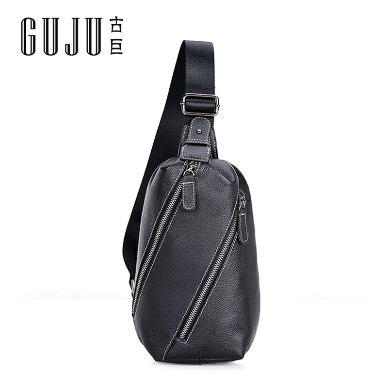6fd16dff8d Ancient giant shopping wild fashion men s solid color casual header layer of  leather outdoor wind in europe and america messenger bag shoulder bag chest