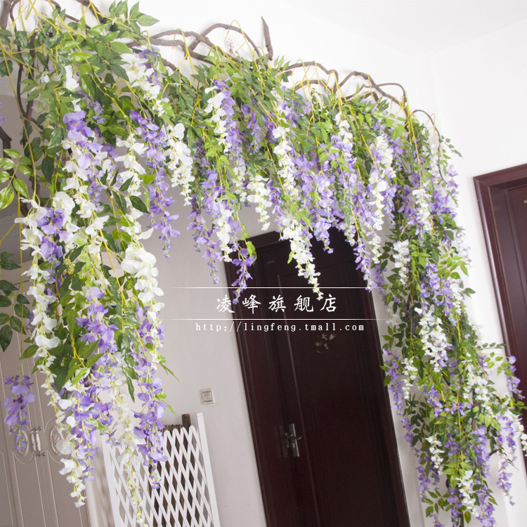 Buy artificial flowers artificial flowers decorative flowers buy artificial flowers artificial flowers decorative flowers artificial flowers silk wisteria plants rattan vines hanging basket flower vine pipeline in mightylinksfo