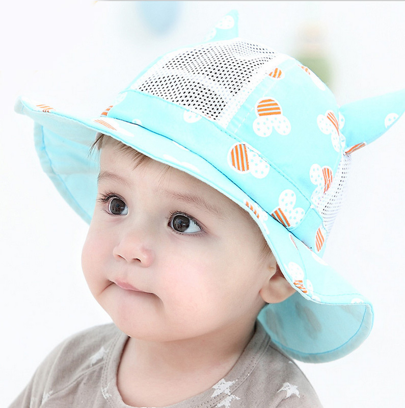 42485d6686cc1 Baby hat baby hat summer sun hat baby boys and girls 1-2-year-old ...