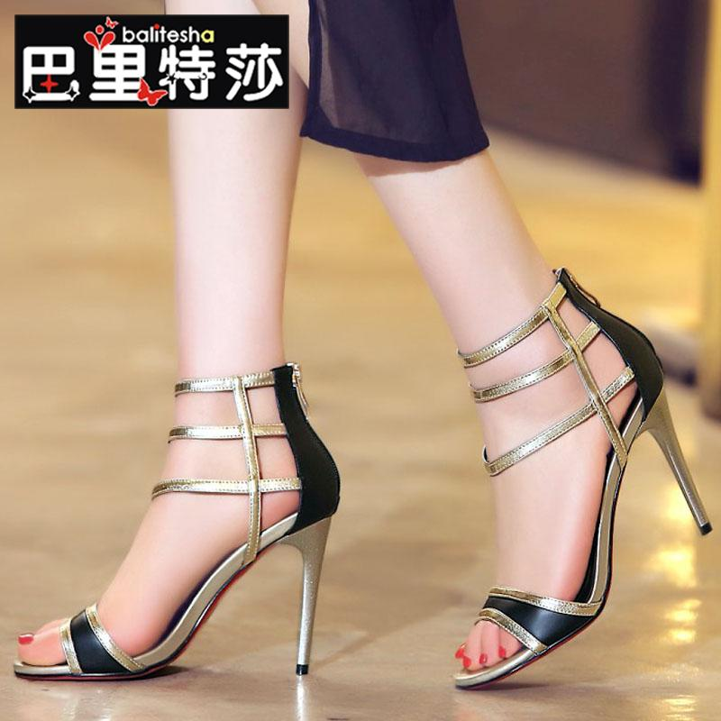 3258a681a4 Buy Barry tessa summer new sexy leather sandals mixed colors cross fine  with high with fine with sandals women open toe sandals in Cheap Price on  m.alibaba. ...