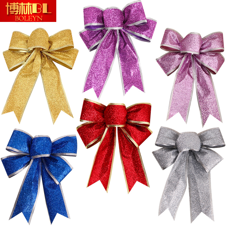 buy bolin diy christmas decorations christmas bow pendant large trumpet tree ornaments gift box with custom ribbon in cheap price on malibabacom