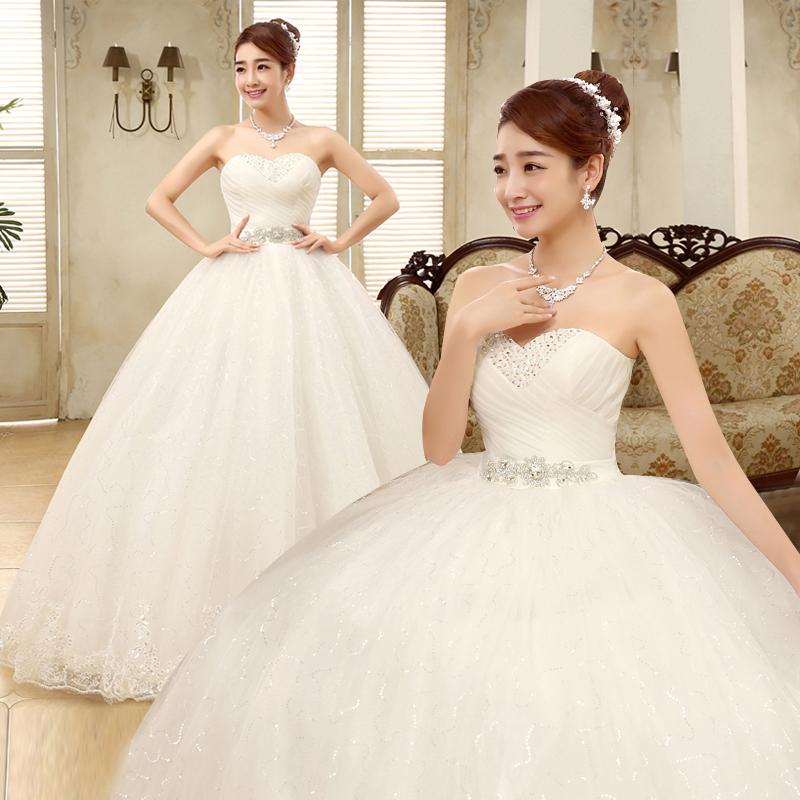 Buy Bride wedding dress 2016 new wedding dress korean yards wipe ...