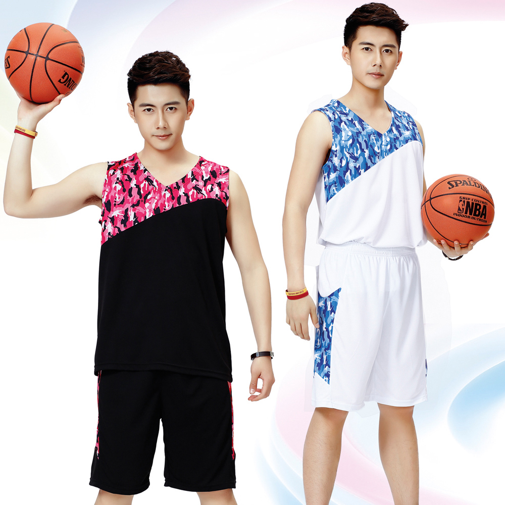 15986370cbd Buy Camouflage basketball uniforms summer basketball clothing basketball  game jersey training suit custom suits for men and women basketball clothing  ...