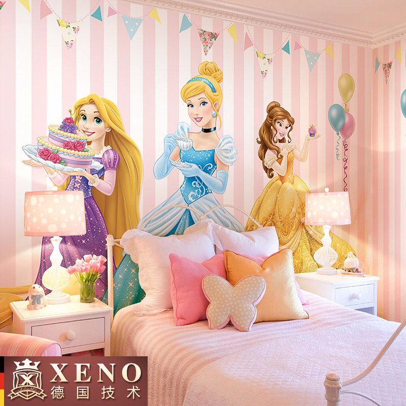 Buy Cartoon children's room wallpaper girl princess room bedroom ...