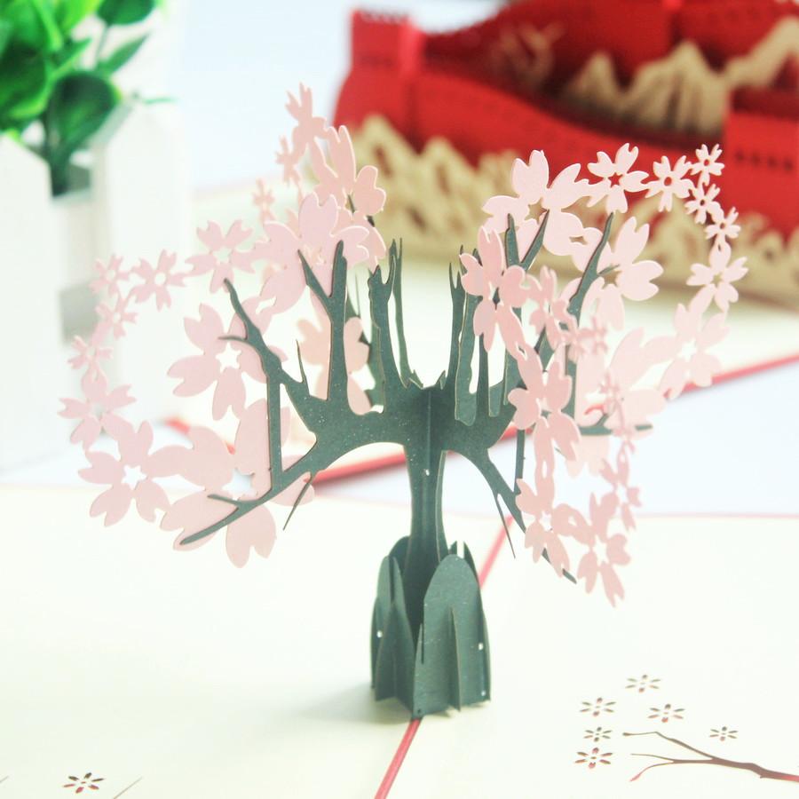 Объемные открытки с деревом, ветеранам открытки своими