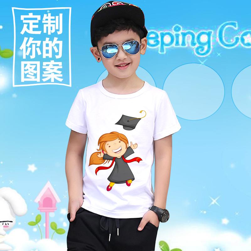 9c8a5adc8d8 Buy Children kindergarten activities show a custom diy cotton short ...