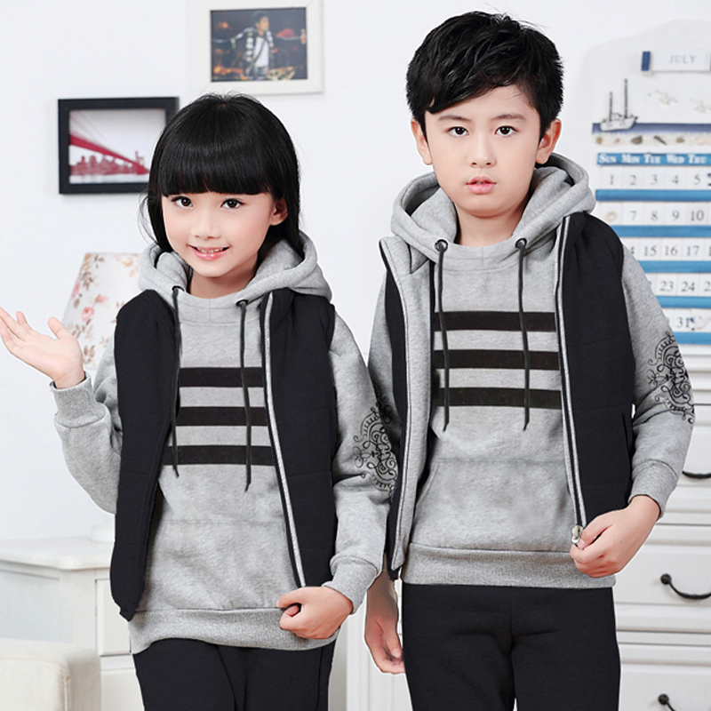 ae7b79ce5de4 Buy Children clothing boys winter suit three sets of 2016 8 thick 9 ...