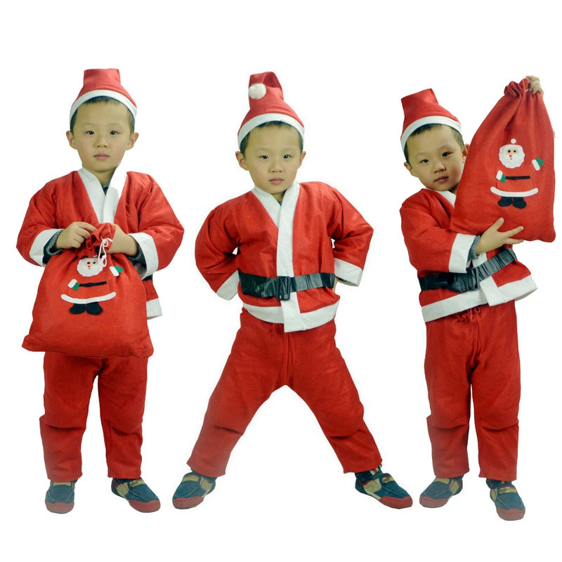 buy childrens clothing girls christmas christmas dress christmas santa claus clothes boys performing service on new years costumes in cheap price