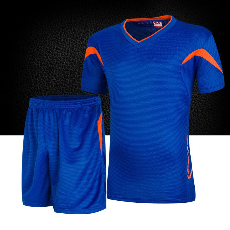 Light board football training wear short sleeve jersey suit male models red  yellow orange white and black and blue fluorescent light green 7 colors  free ... 3ae73e097