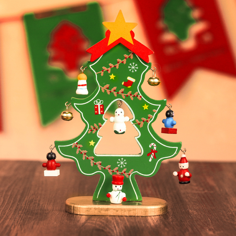 buy christmas decorations single flat wooden christmas tree ornaments creative desktop wooden christmas tree christmas gifts in cheap price on malibabacom