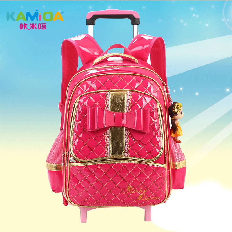 Cracking meters despair children trolley bags 1-3-5 grade girls schoolbag  backpack schoolbag burdens b3d03fbe1b
