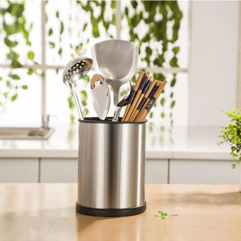 Point Pretty E Home Full Stainless Steel Chopstick Chopsticks Cage Cutlery Storage Rack Wall Hanging Kitchen Supplies