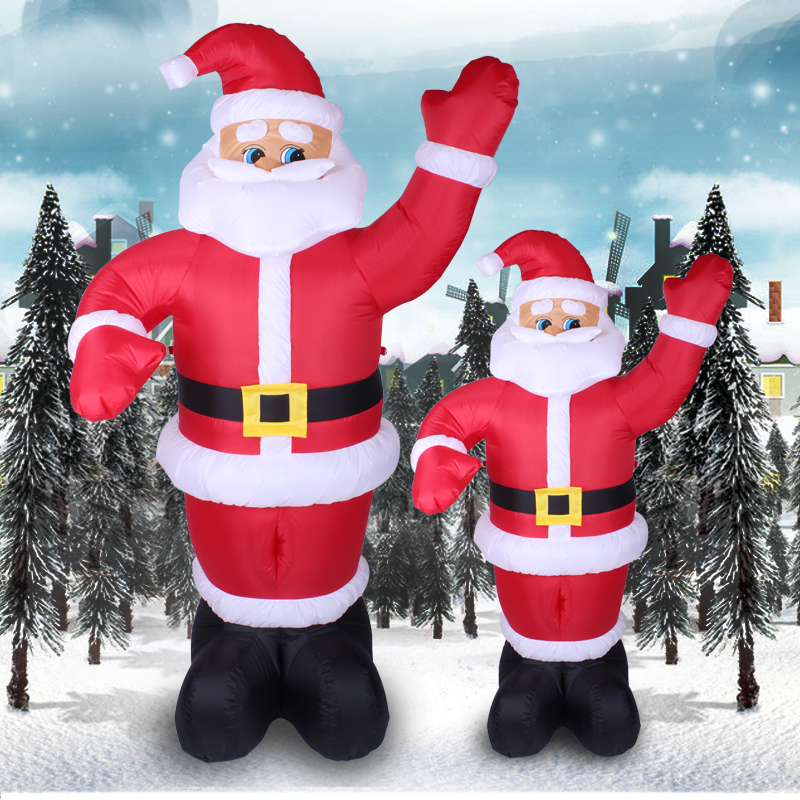 buy creepy square christmas santa claus christmas decoration welcome christmas inflatable santa claus waving 18 m 24 m in cheap price on malibabacom - Cheap Inflatable Christmas Decorations
