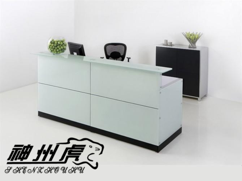 Divine Tiger Front Desk Office Furniture Reception White Plate Gl To Be Connected The Company In