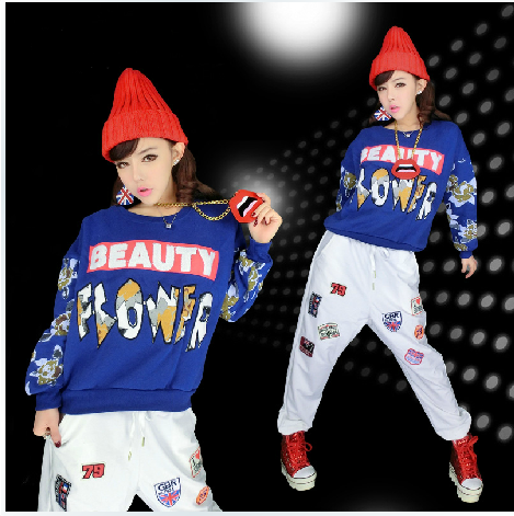 9059af36e127 Buy Ds hip-hop jazz dance practice clothes suit student performances dance  clothes clothing female hip-hop jazz modern dance costumes in Cheap Price  on ...