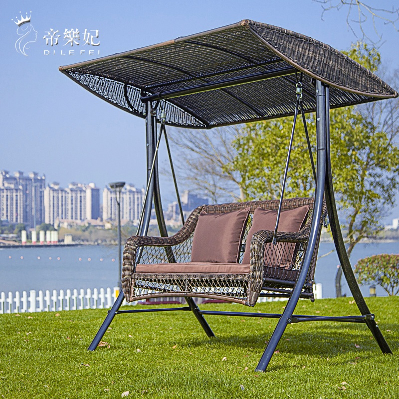 Emperor Fei Dormitory Courtyard Balcony Double Swing Hanging Chair Swing  Chair Outdoor Wicker Chair Swing Hanging Basket Chair Indoor