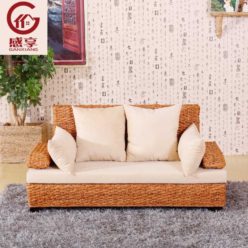 Buy Enjoy the sense of real rattan sofa rattan sofa small apartment ...