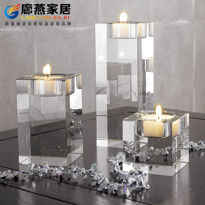 Buy European Crystal Candle Holder Ornaments Hotel Dining Table Model Room  Soft Loading Romantic Wedding Decoration In Cheap Price On M.alibaba.com