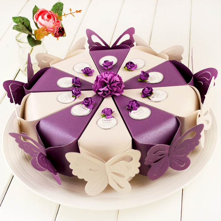 European Wedding Supplies Pearl Paper Cake Candy Box Personalized Creative In Price On