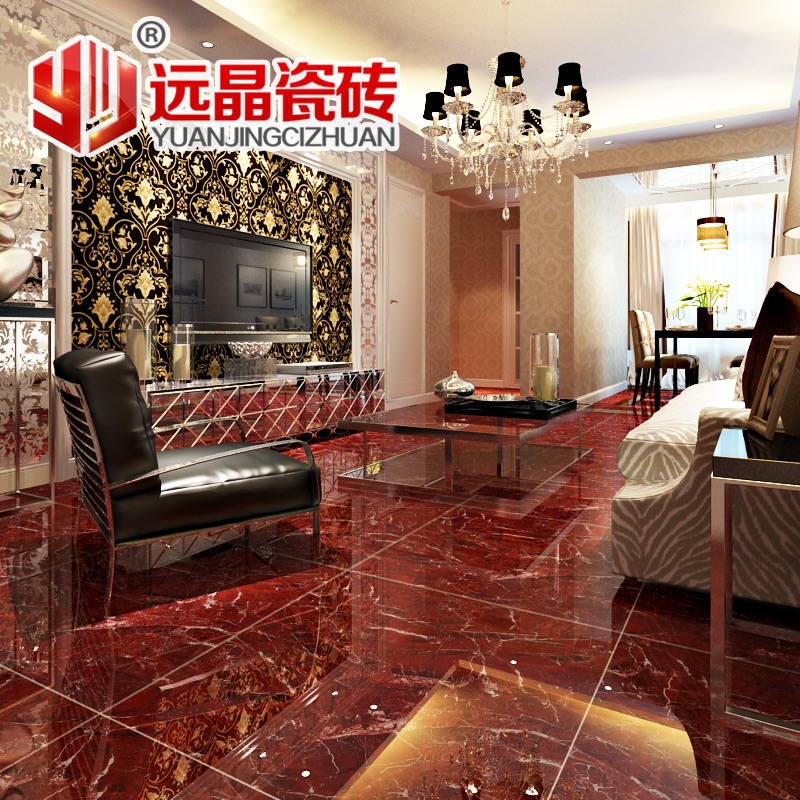 Buy Far crystal tile living room floor tiles full cast glaze 800x800 ...