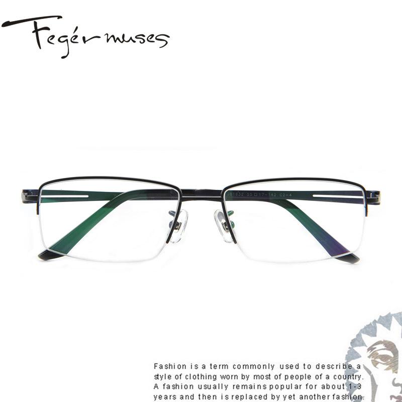 6276c3dbe50 Figueroa mousse genuine male models half frame glasses frame titanium  glasses frame glasses myopia mirror frames 81632