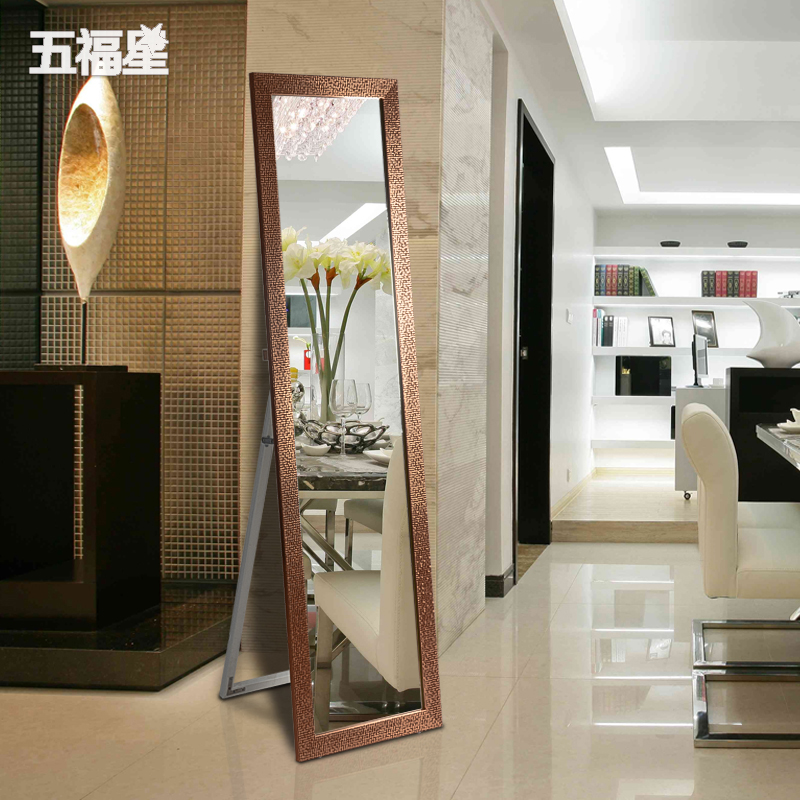 Buy Five fuxing new mosaic fashion dressing mirror floor mirror full ...
