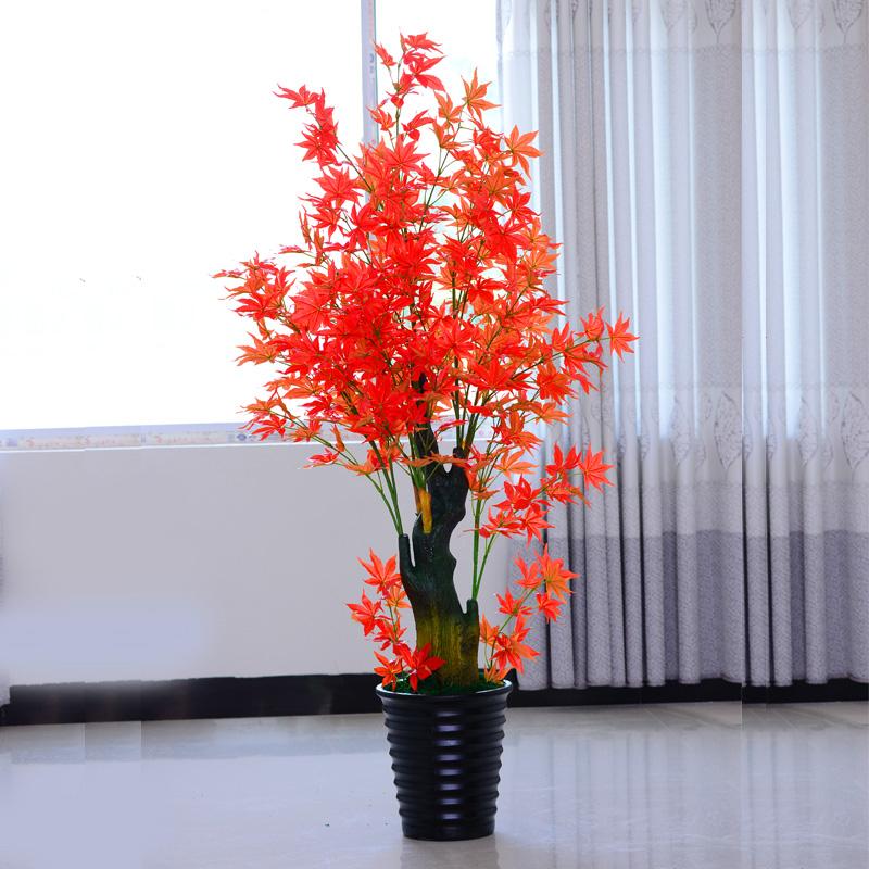 Five Siblings Red Maple Floor Artificial Flowers Silk Flower Simulation  Flowers Simulation Tree Simulation Fake Tree Red Plants Indoor Plants  Japanese Maple