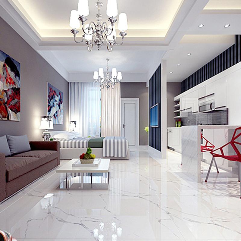 Foshan Ceramic Tile Living Room Floor Tiles 800 KÃ Ra White Full Cast Glaze Glazed Bedroom Brick