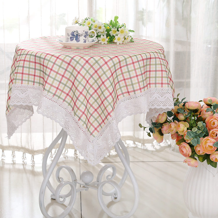 Free Shipping Past Cloth Tablecloths Tablecloth Round Coffee Table Cover Bedside Towel Fashion Plaid In