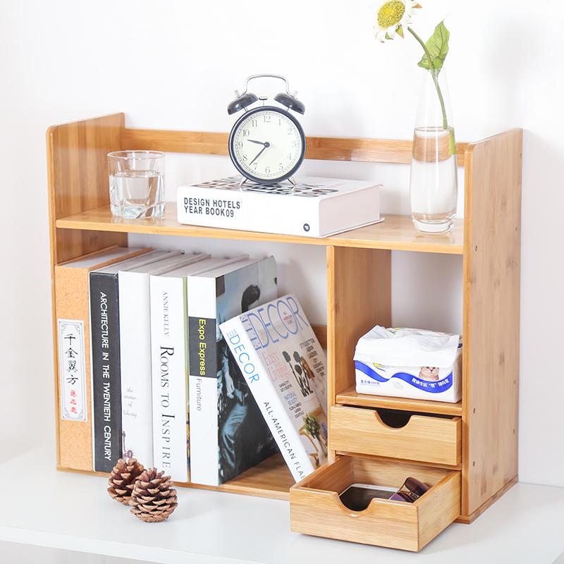 wood ruyiyu shelf desktop d adjustable storage bookcases organizer extended w x office rack supply intl h bookcase